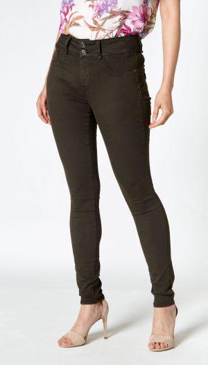 High-Waisted Skinny Jeans (Black)