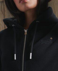 Superdry 'Orange Label' Zip Hoodie in Black - The Purple Orange