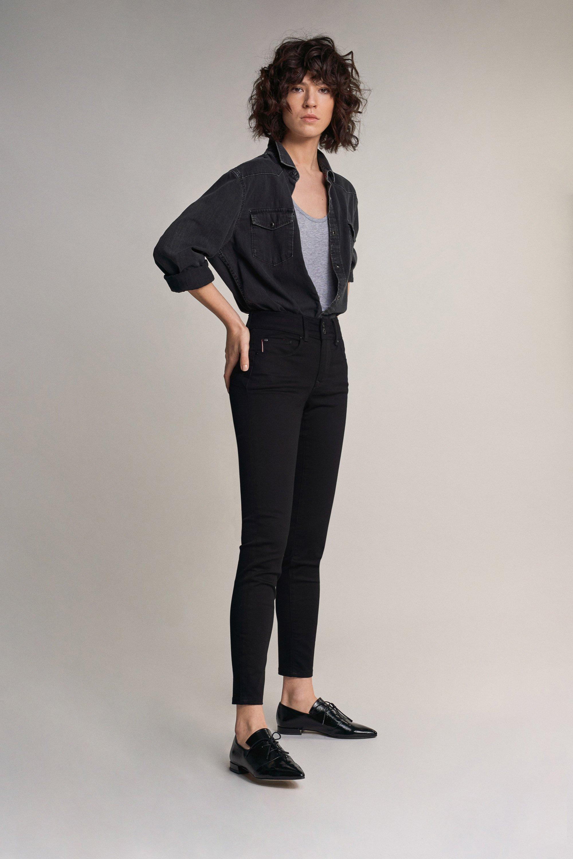 Salsa Skinny Jeans, Push-In Secret in True Black - The Purple Orange