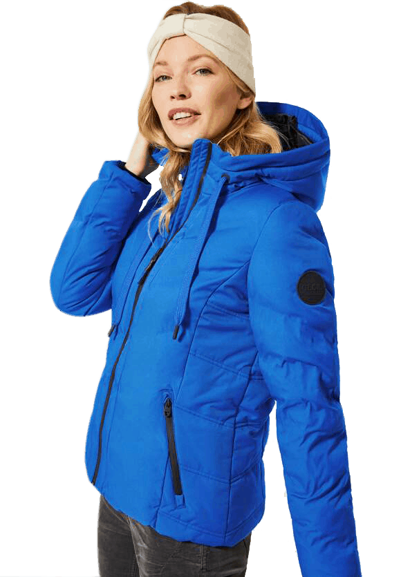 Quilted Blue Jacket - The Purple Orange
