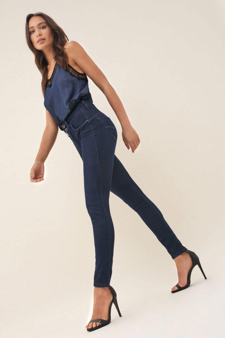 Salsa Push-In Secret Denim2Go Jeans in Blue - The Purple Orange