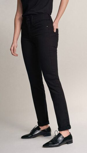 Salsa Slim Leg Jeans in True Black - The Purple Orange