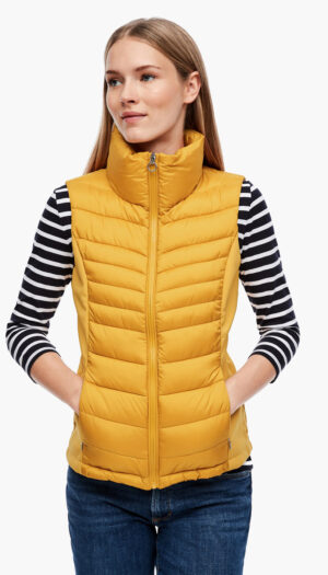 Quilted Body Warmer in Mustard Yellow - The Purple Orange