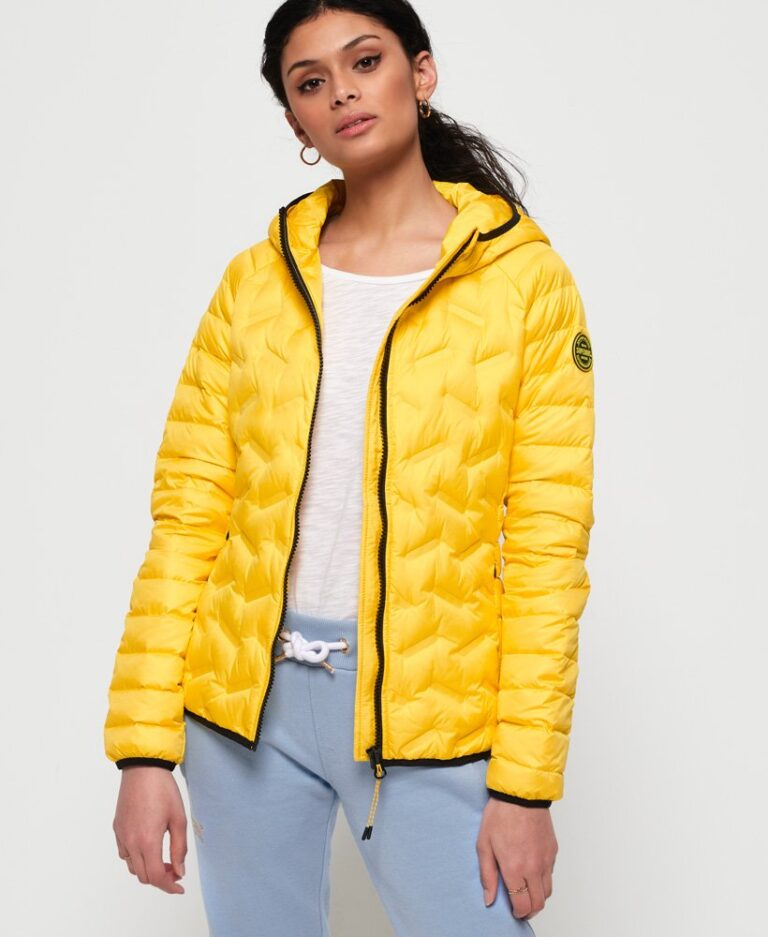Superdry Down Jacket in Bright Yellow - The Purple Orange
