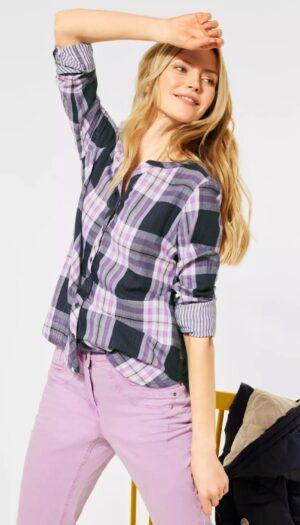 100% Cotton Check Shirt in Purple-Lavender - The Purple Orange